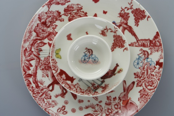 A Curious Toile  Dinnerware by Loveramics & A Curious Toile