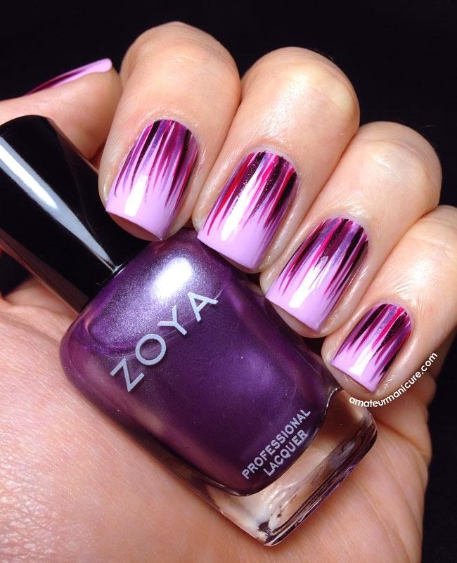 Amateur Manicure : A Nail Art Blog: Pinky-Purple Waterfall