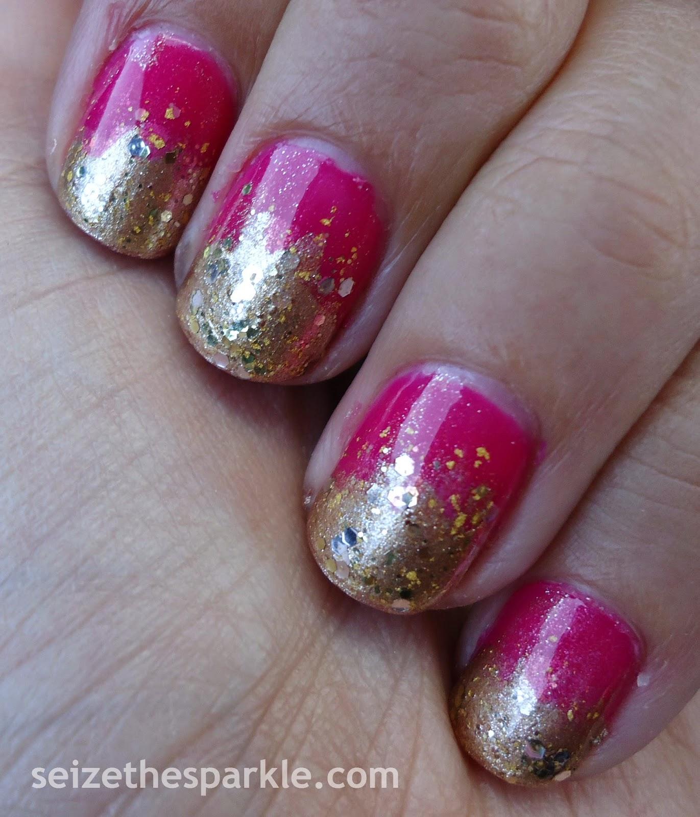 Pink & Gold Glitter Gradient