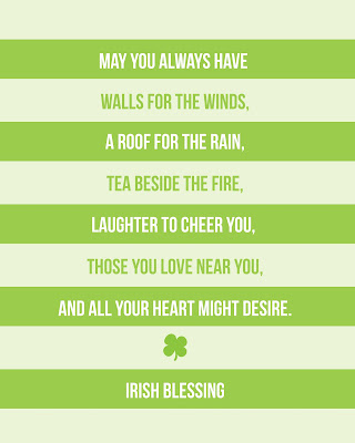 irishblessing artprint *Dont* Kiss Me, Im only a *1/4* Irish (DIY St Patricks Day Mantel)