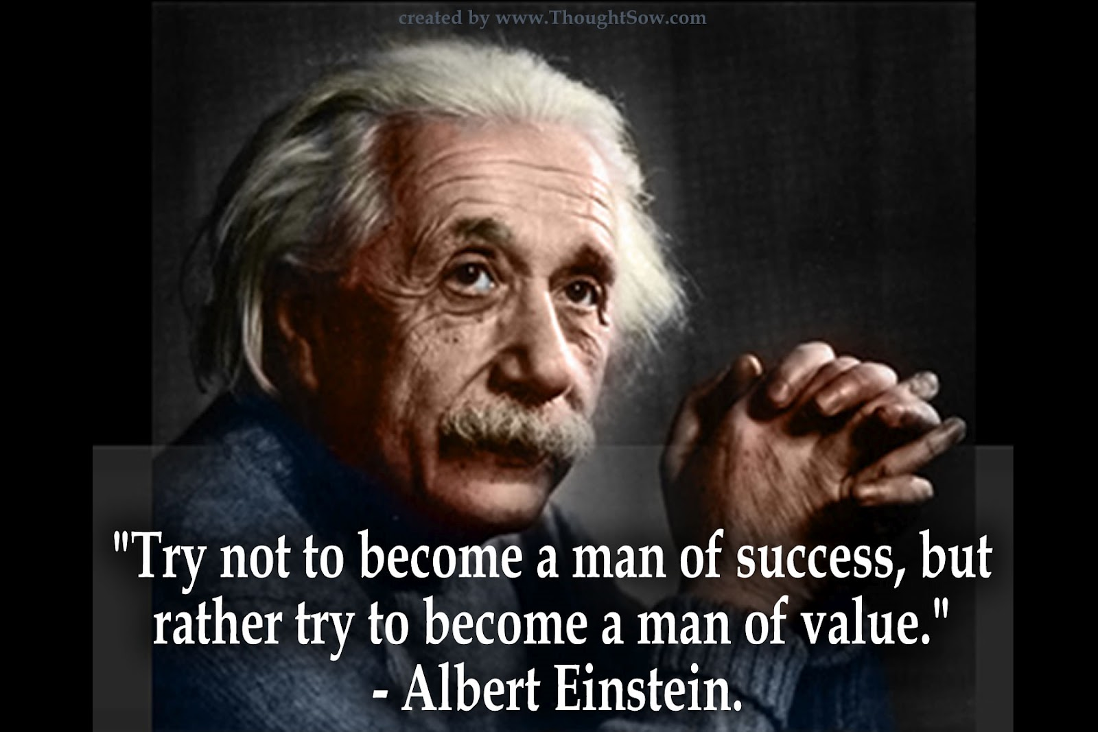 Einstein quote success value