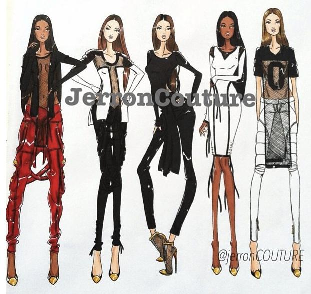 fashion design illustration jerron couture urban fashion mesh tops