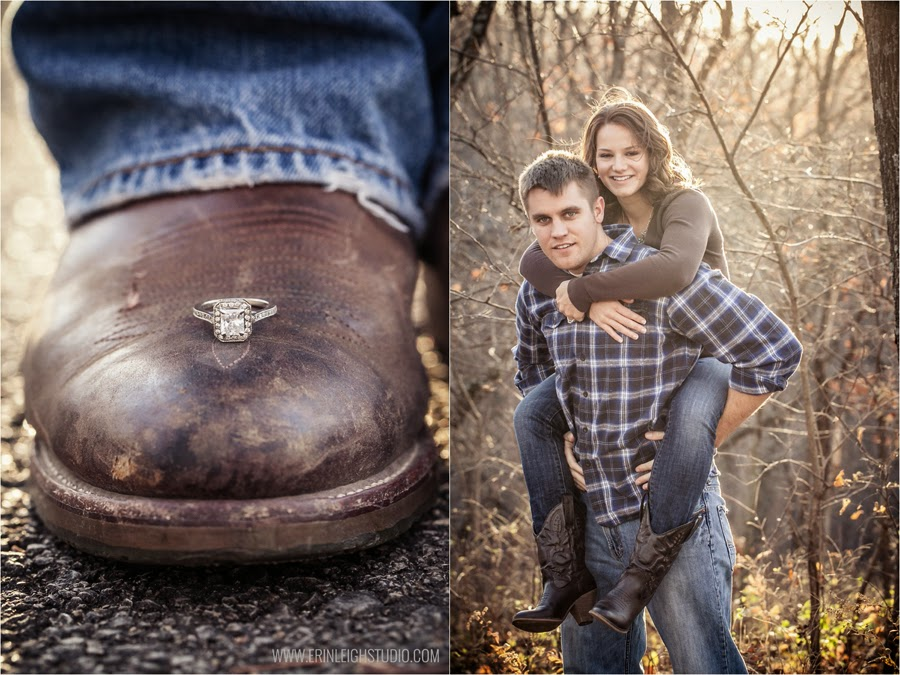 ring shot on a cowboy boot