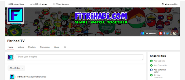 youtube fitrihadiTV