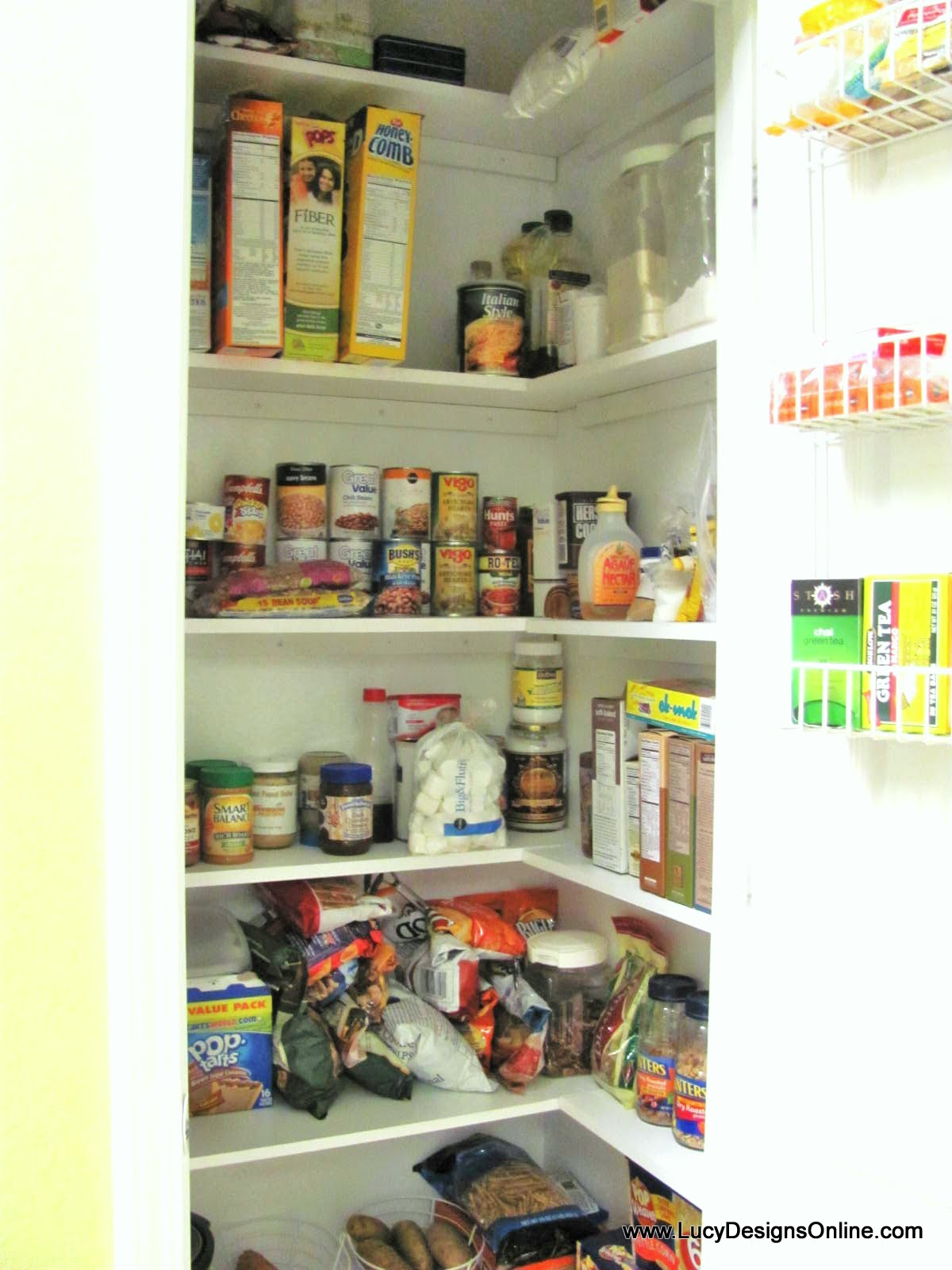 Kitchen Pantry Shelving Kitchen Pantry Makeover Diy Installing Wood Wrap Around Shelving