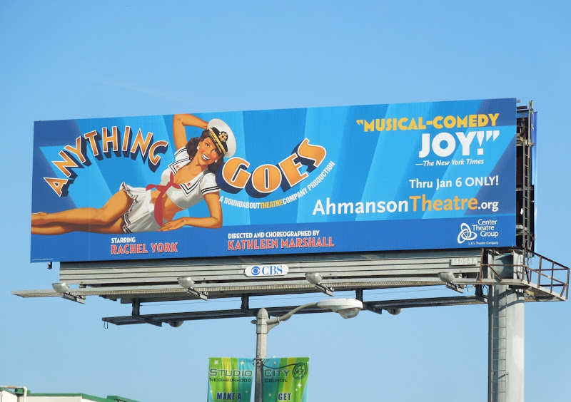 Anything Goes musical billboard LA