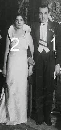 Le duc et la duchesse de Ségovie ( Don Jaime de Borbón y Battenberg et Emanuela de Dampierre)