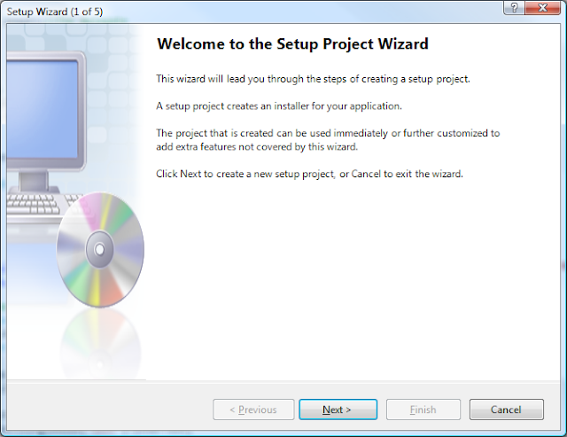 Visual Studio Setup Wizard - Step 1