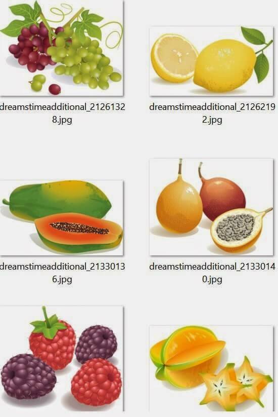 Colección imágenes frutas EPS - JPG