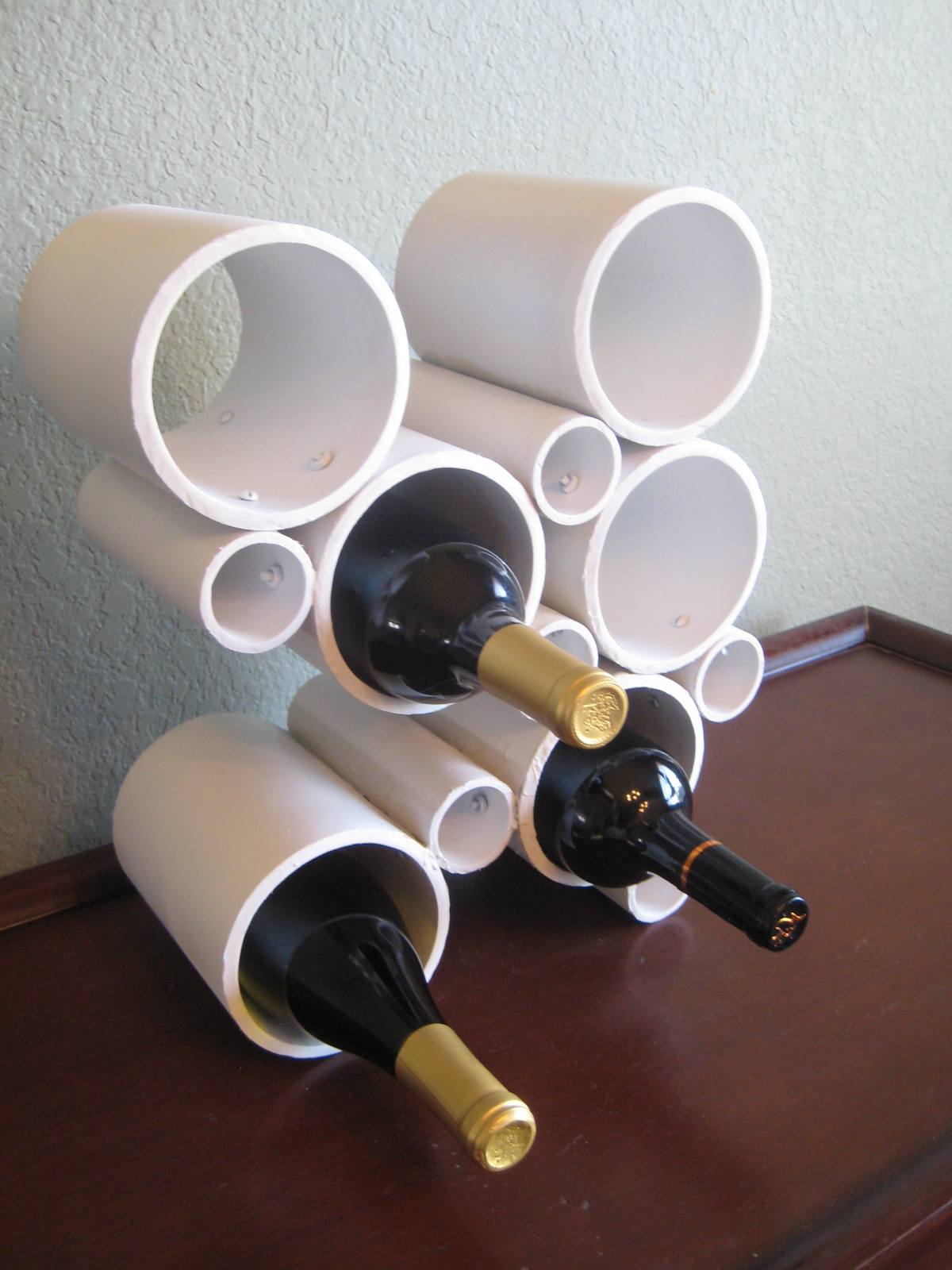 Make a modern pvc pipe wine rack