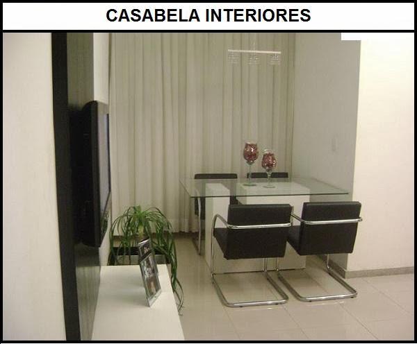 Mesa Para Sala Jantar Pequena ~ Sala pequena conjugada