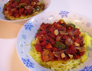 recipe for spaghetti squash with roasted tomato sauce