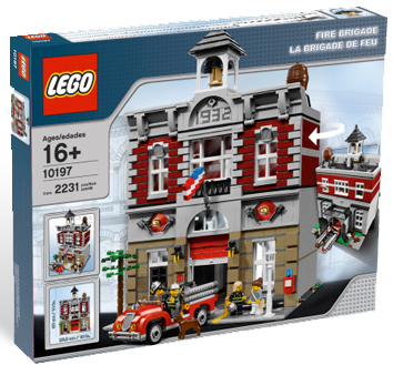 legoreve fire brigade lego 10197. Black Bedroom Furniture Sets. Home Design Ideas