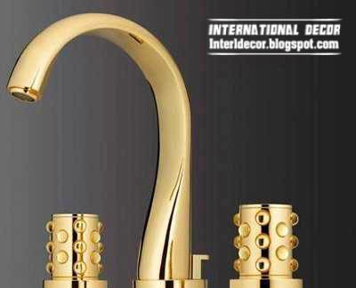 gold bathroom taps - bath taps - golden taps
