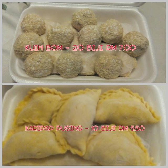 Homemade Frozen Food : Karipap Pusing & Kuih Bom Inti Kacang Merah yang sedap !!!