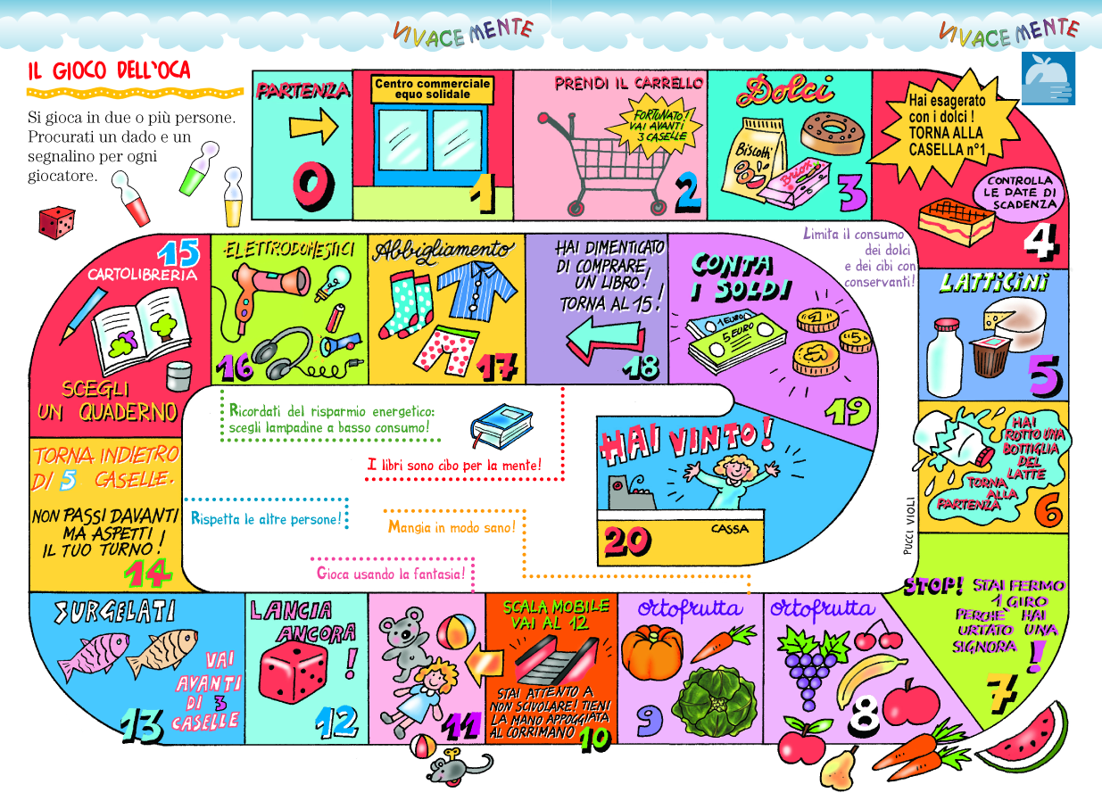 Vivacemente con il cuore e con la mente il gioco dell 39 oca for Gioco dell oca da stampare e colorare