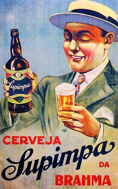 Propaganda da Cerveja Supimpa da Brahma, em 1928.