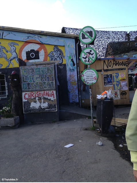 quartier christiania copenhague greenlight district cannabis non-droit interdiction de prendre des photos