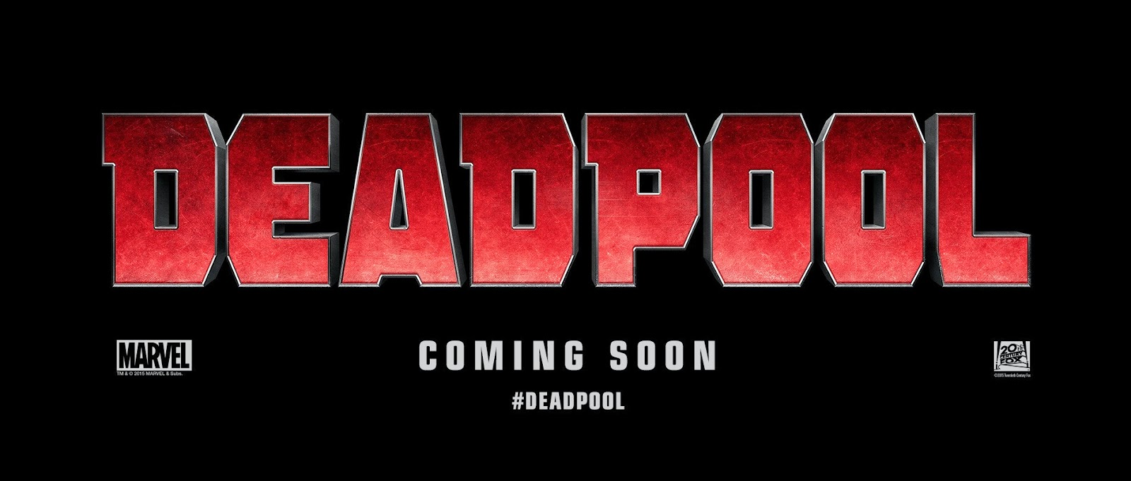 Official movie logo for the 2016 movie Deadpool starring Ryan Reynolds.
