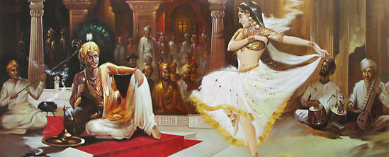 Indian Art Painting: Women Dancing