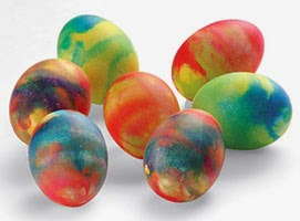 Lovely colored shiny eggs