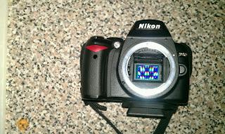 camera sensor exposed