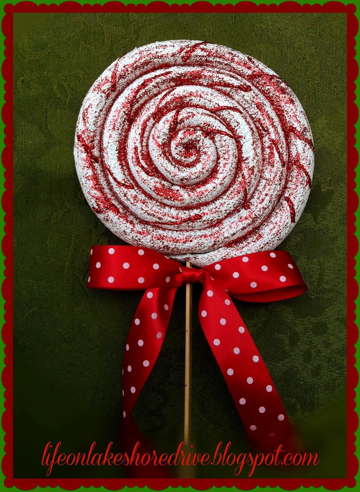 how to make glitter lollipops