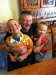 Hubby and our grandsons, Kane and Benny.