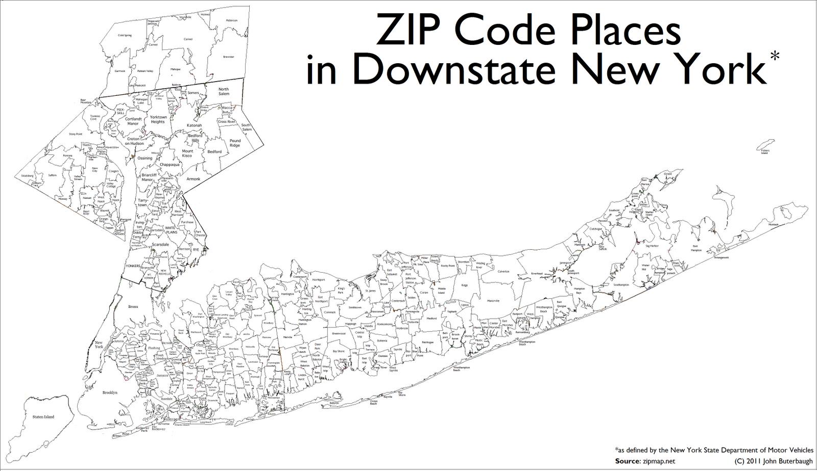 The Buterblog  Id Map That - Brooklyn usa zip code