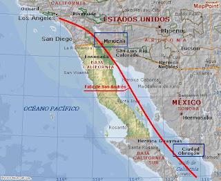 Falla de San Andres terremoto california