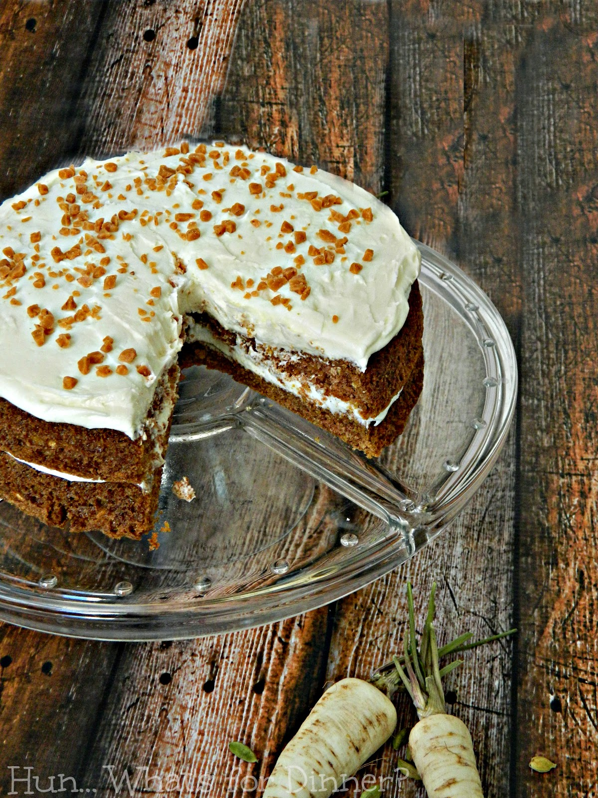 Parsnip Cake with Cardamom Cream Cheese Frosting~ #CrazyIngredientChallenge
