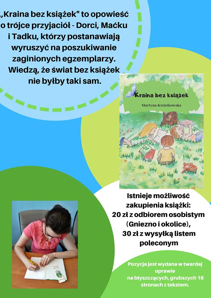 """,,Kraina bez książek"""" Martyna Kwiatkowska"""