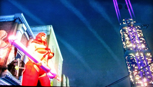 image jeu saint rows3 perso feminin sexy tenant arme god