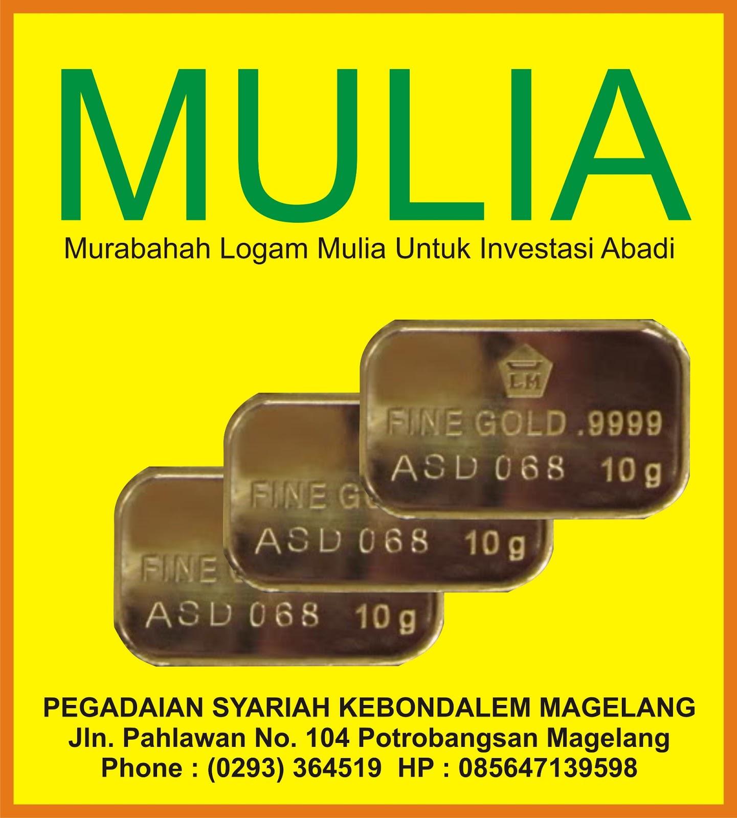 Pegadaian Syariah Mertoyudan Pembelian Emas Batangan 24 Karat