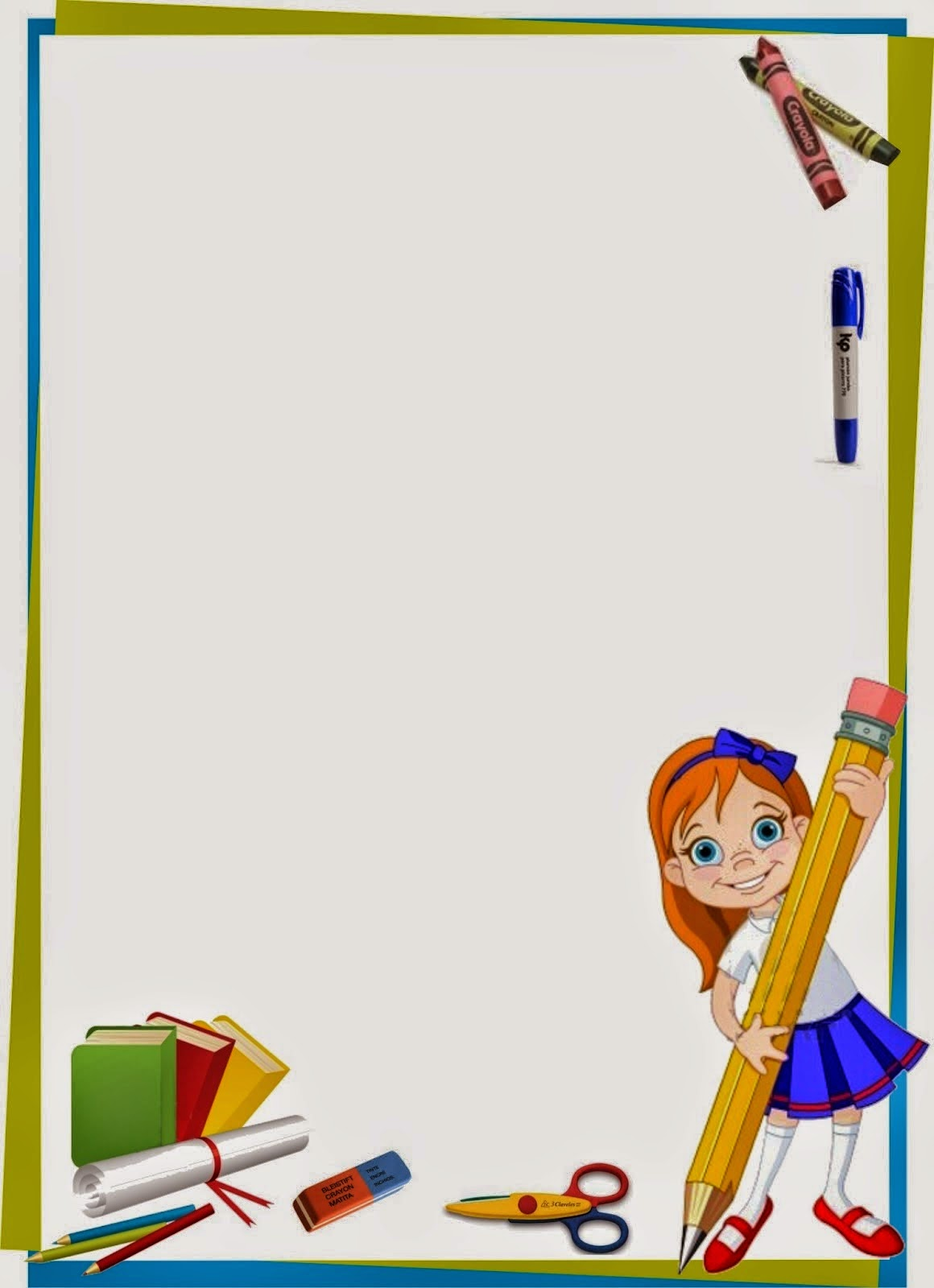 Caratulas y Recursos para Estudiantes: Caratulas para niñas