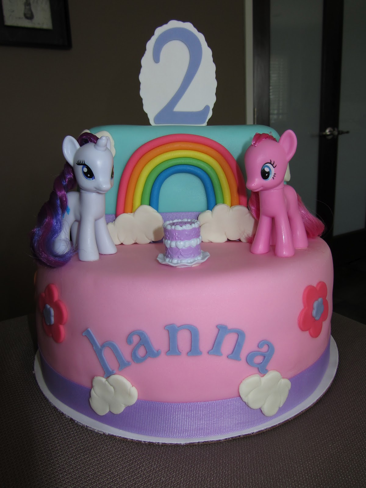 My Little Pony 2nd Birthday Cake