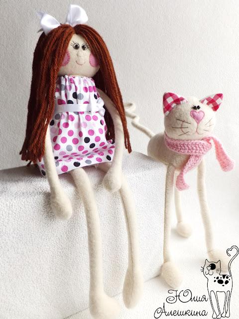 Новая кукла-длинноножка и кошка-длинноножка