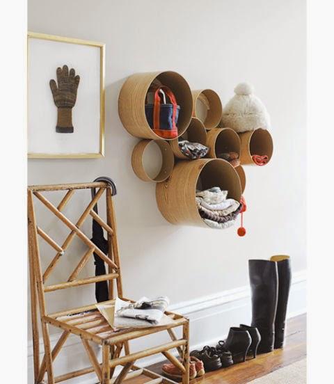 Hutschachten als Wandgarderobe – ein stylischer Selbermachen-Tipp für den Flur