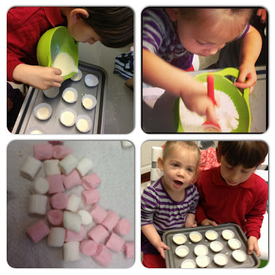 kids making cakes - baking