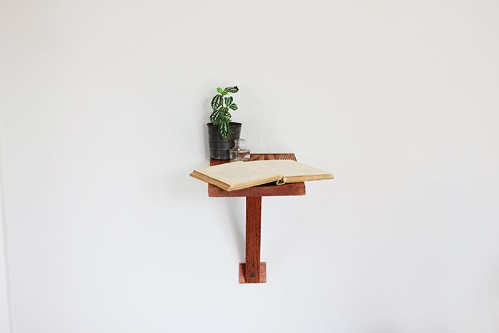 DIY Wall Mount Side Table Poppytalk
