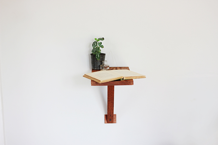 Side Wall Table Unique Diy Wall Mount Side Table  Poppytalk