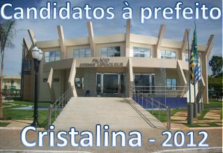 Relação de candidatos a prefeito de Cristalina 2012
