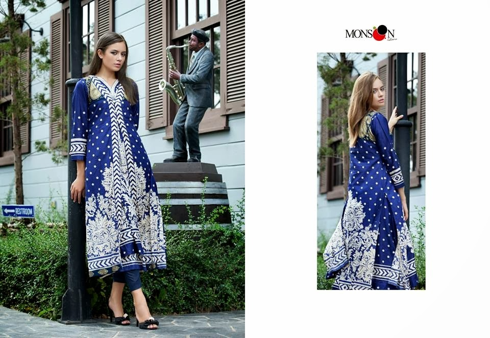 MonsoonLawn2014ByAl ZohaibTextile wwwfashionhuntworldblogspotcom 05 - Monsoon Lawn Spring/Summer Collection 2014