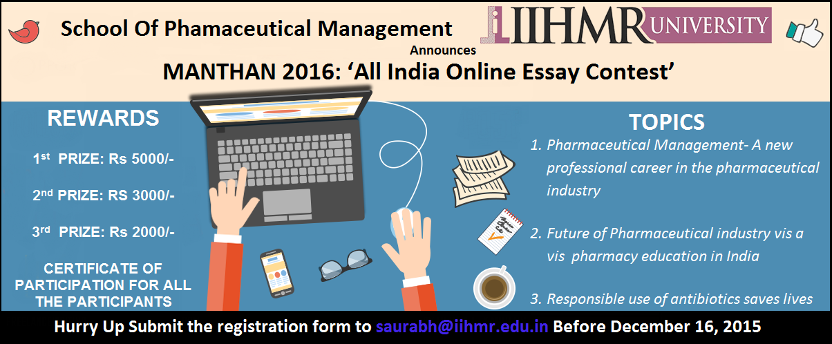 essay contest 2014 india Iihmr university, jaipur invites all the students of graduate programs across  india to enter all india online essay contest- 2018, abhyutthan.