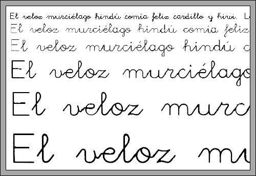 Utilidades - Fuente letra infantil ...