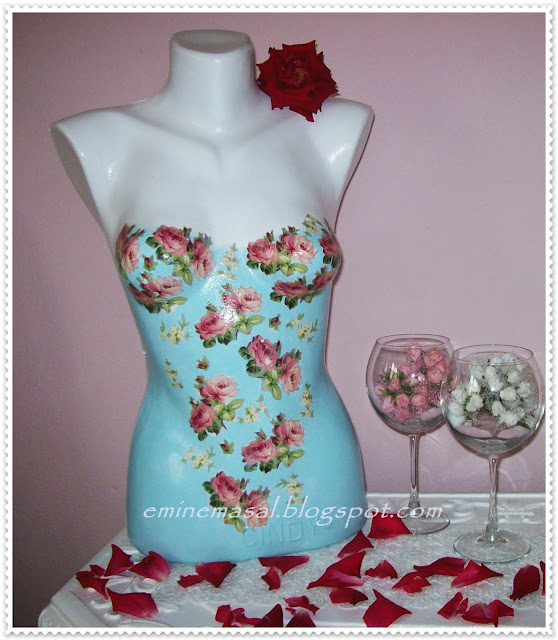 dress form decoupage, diy dress form