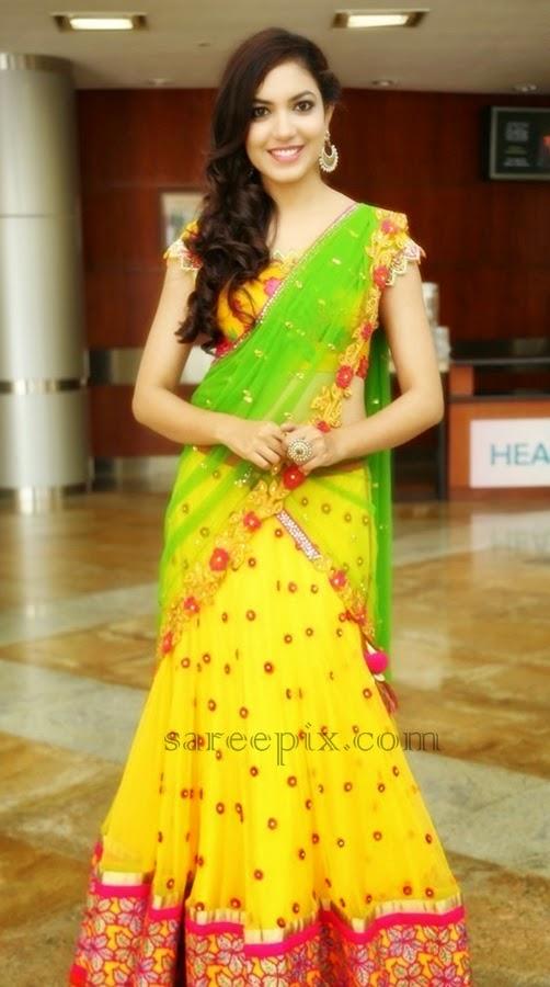 Ritu-varma-half-saree-at-Hi-Life-Luxury-Expo-at-HICC
