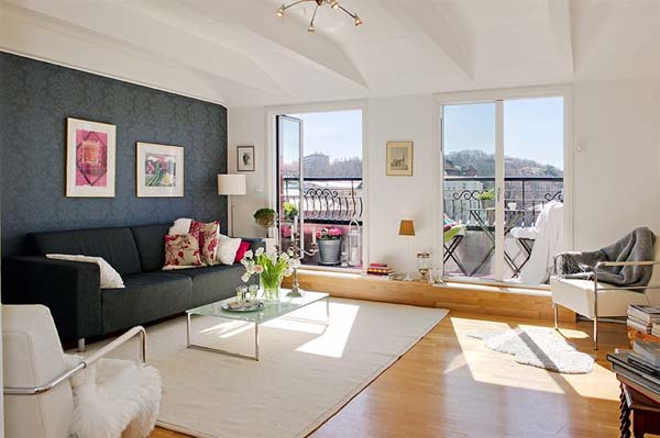 decoracao de interiores sotaos:Urban Apartment Living Room Ideas