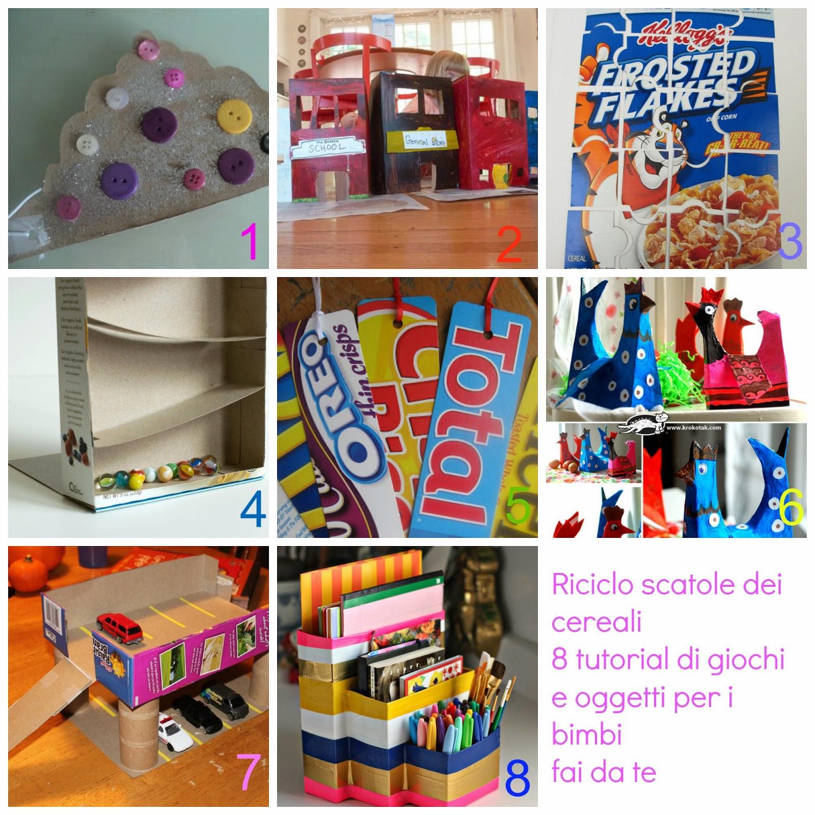 Conosciuto Riciclo scatole cereali - 8 tutorial di giochi e oggetti da fare  ZM15