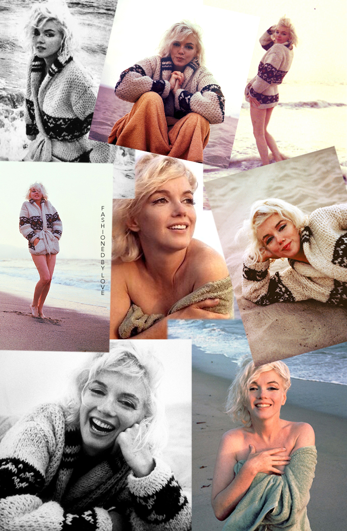 Marilyn Monroe photographed by George Barris in Santa Monica, 1962 - collage by Fashioned by Love